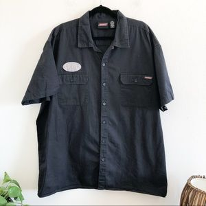 DICKIES 3xl black button front utility shirt